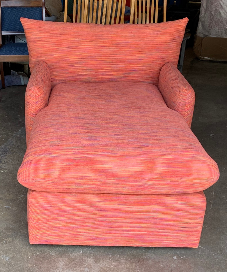 Mid-Century Modern Style Custom Orange Chaise Lounge