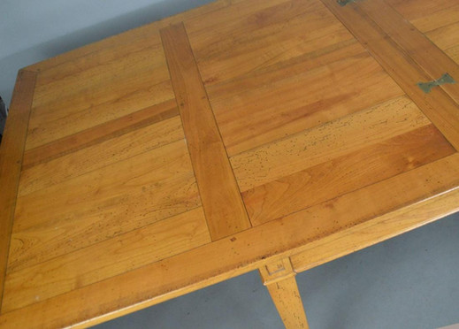 Louis XVI Style French Provincial Fruitwood Extending Dining Table