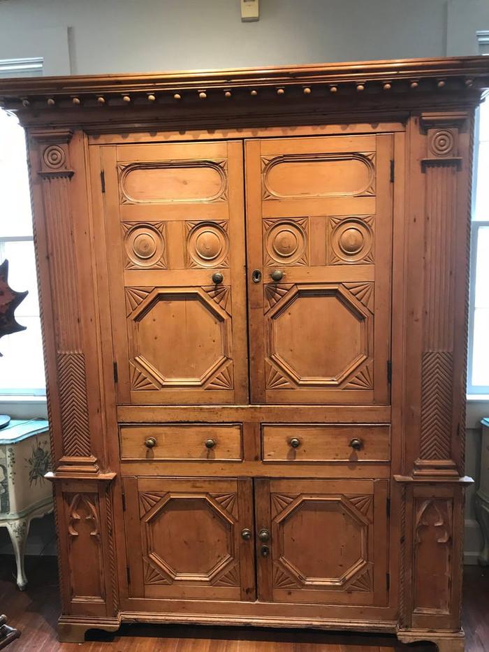 19th Century Neoclassical Revival Irish Pine Cabinet