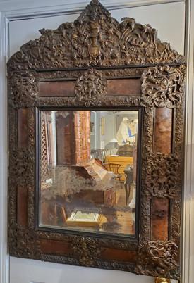 Rare 17th Century Cushion Moulded Dutch Mirror