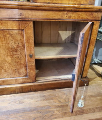 Early 19th Century French Provincial Burled Ash Bookcase