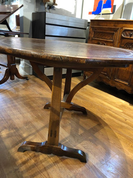 Charles X French Provincial Tooled Leather Tilt-Top Table