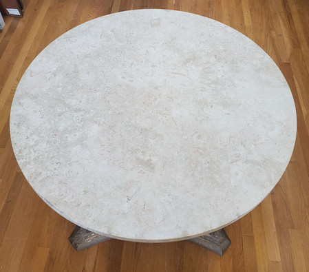 18th Century Venetian Architectural Carved Capital Table with Marble Top