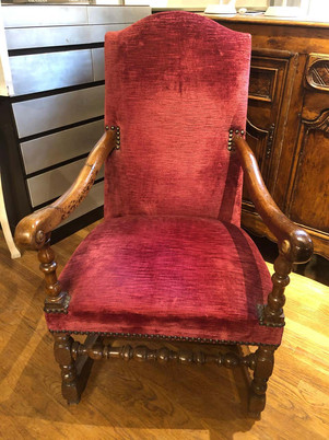 17th Century Baroque French Provincial Upholstered Armchair