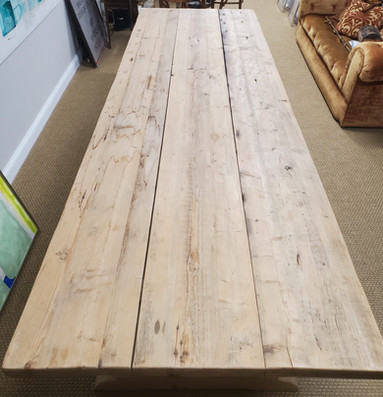 Large Rustic French Provincial Style Pine Trestle Table