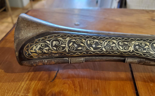 Mid-18th Century Persian Blunderbuss with Silver Inlay