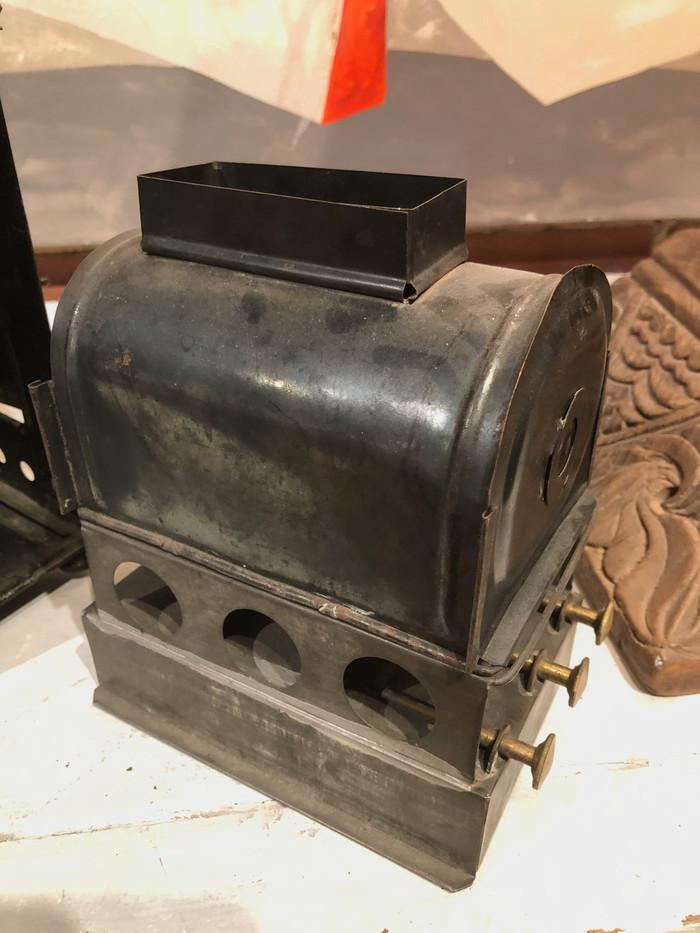 "19th Century German Polished Brass ""Magic Lantern"" Image Projector"