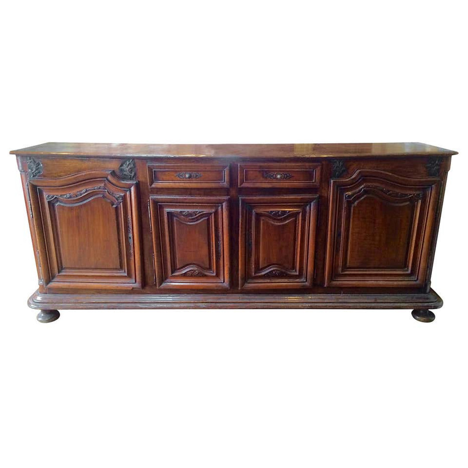 Early 18th Century French Provincial Baroque Walnut Enfilade