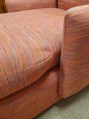 Mid-Century Modern Style Custom Orange Chaise Lounge