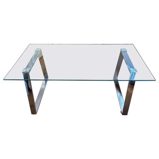 Mid-century Modern Glass Coffee Table