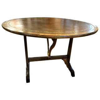 1816 - Leather Tilt Top Table