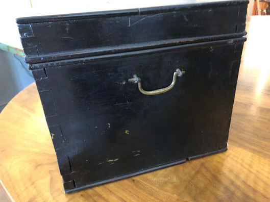 19th Century Red and Black Lacquered Indonesian Document Box