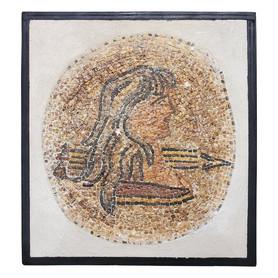 Roman Micro-Mosaic Portrait of a Woman