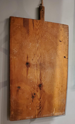 Large 19th Century Rustic Turkish Red Pine Bread Board