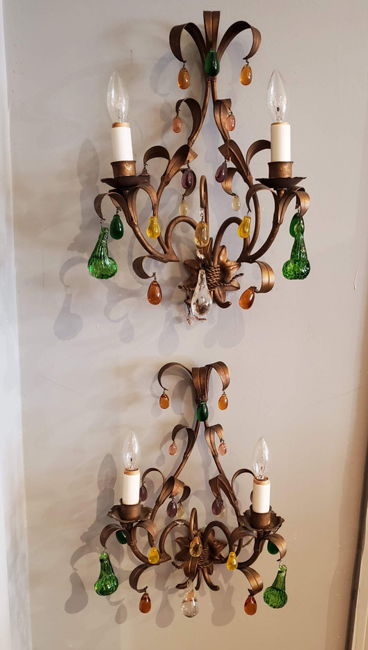 Pair of Early 20th Century French Provincial Wall Sconces