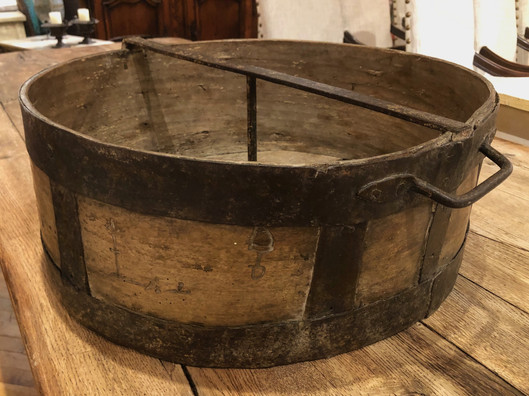 Early 19th Century French Provincial Wood Cheese Press