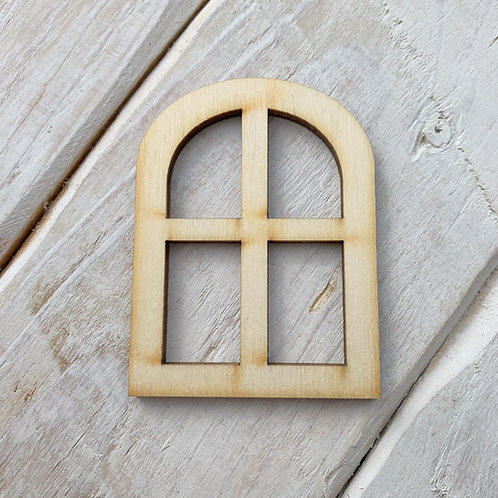 6 Pack Fairy Door Window Curved Large