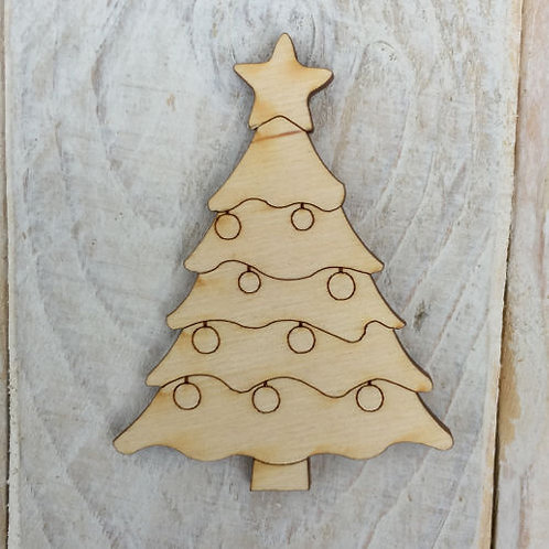 12 Pack Wooden Christmas Tree Code Xmas Tree