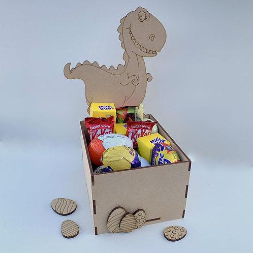 MDF Easter Fillable Treat Box Dinosaur