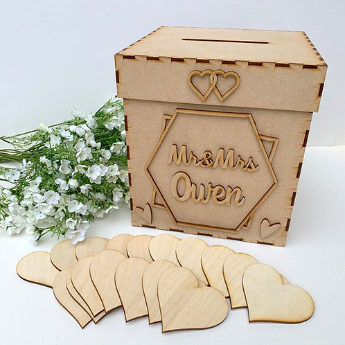 Personalised Build Your Own Wedding Wish Box Laurel