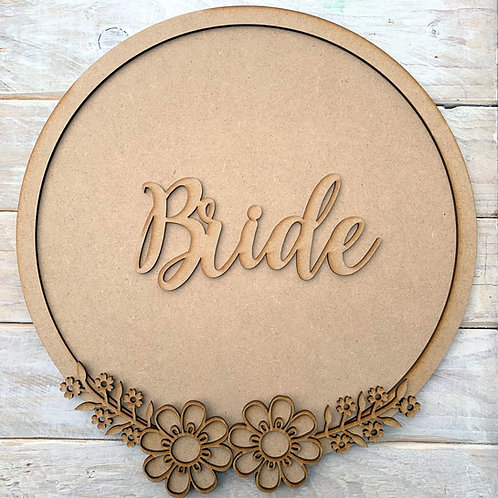 Layered Hoop Kit Backboard Bride or Groom