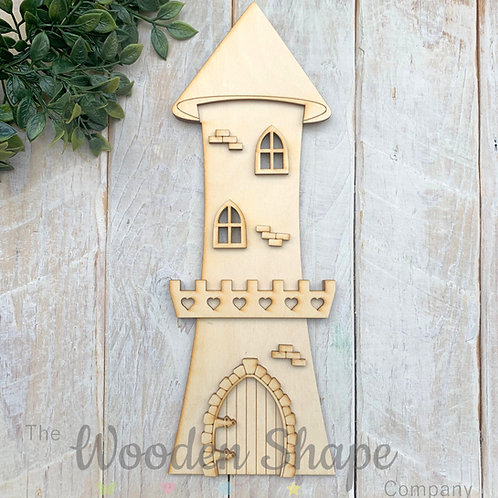 Tall Round Tower Fairy Door