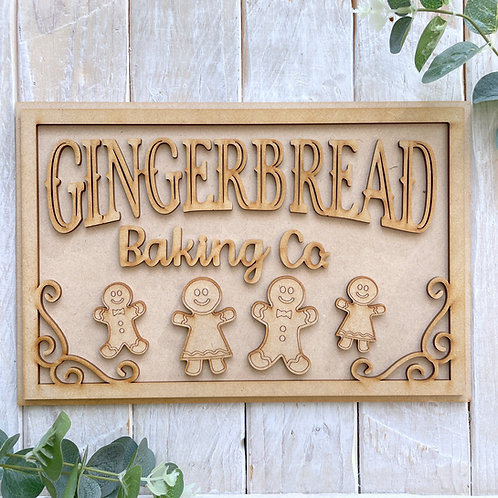 30cm MDF Sign Kit Gingerbread Baking Co RP