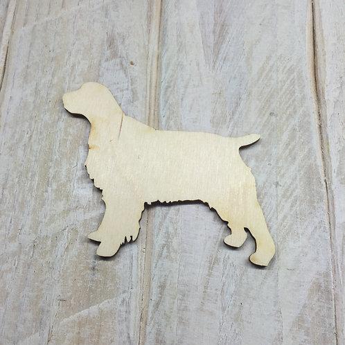 Plywood Springer Spaniel Dog Shape 10 PACK
