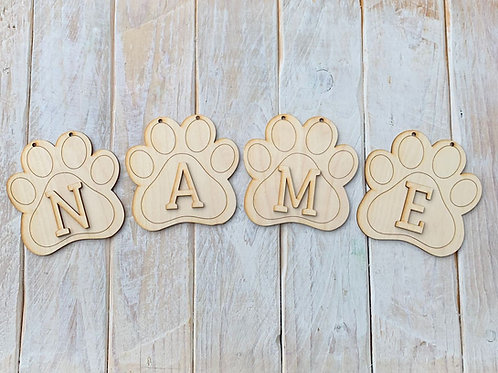 Paw Bunting with Letters