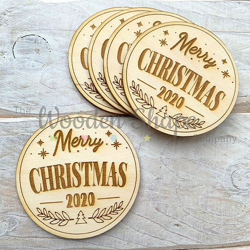 5 Pack Merry Christmas 2020 Tokens
