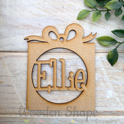 MDF Personalised Bauble Gift