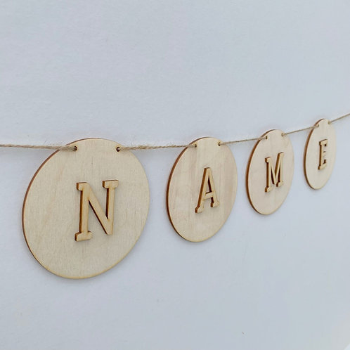 Circle Bunting with Letters