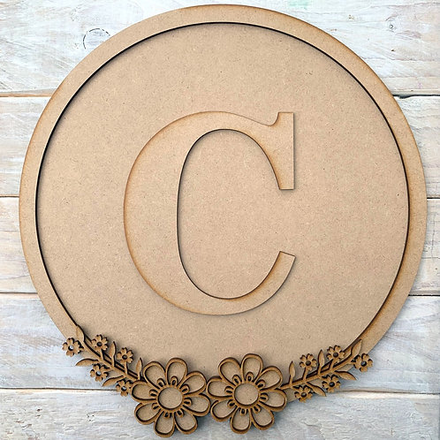 Layered Hoop Kit Backboard with Initial