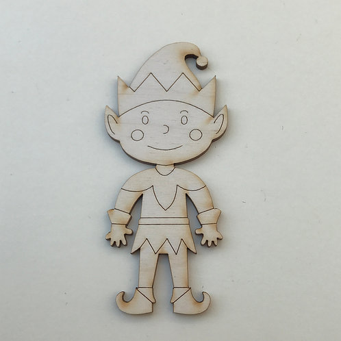 Plywood Elf Boy Craft Shape 10 PACK