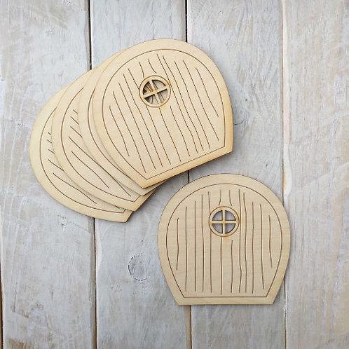 6 Pack Wooden Fairy Doors Code Flat R