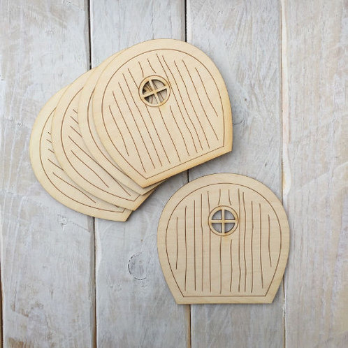 5 Pack Wooden Fairy Doors Code Flat R