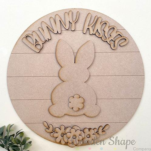 30cm MDF Sign Kit Bunny Kisses CLI