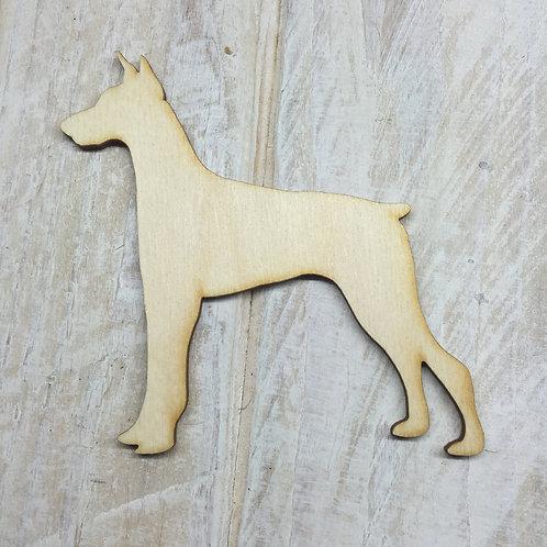 Plywood Doberman Dog Shape 10 PACK