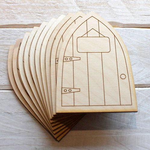 6 Pack Wooden Fairy Doors Code Flat P