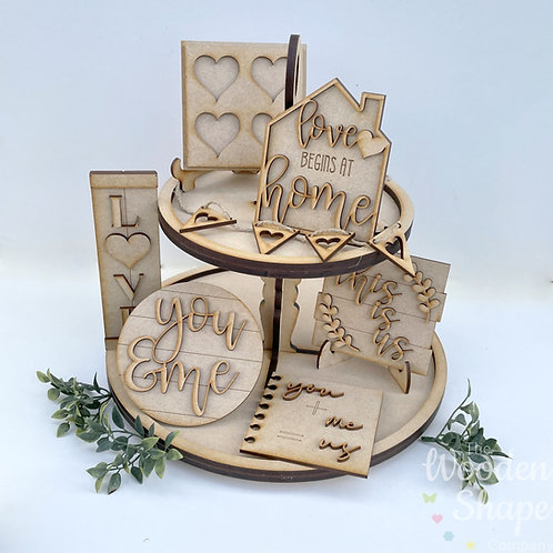 Love Theme Tiered Tray Kit