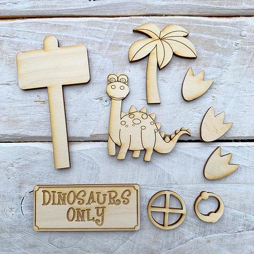 Fairy Door Accessory Kit Dinosaur Pack