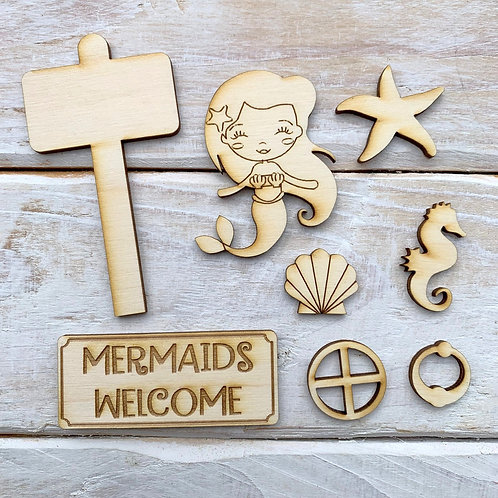 Fairy Door Accessory Kit Mermaid Pack