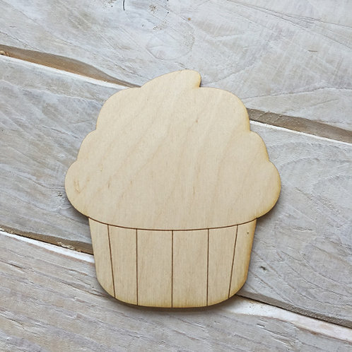 Plywood Cupcake Shape 10 PACK