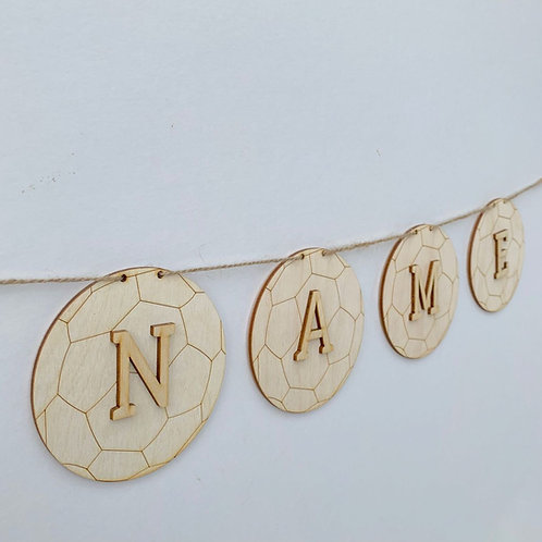 Football Bunting with Letters