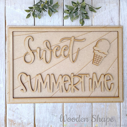 30cm MDF Sign Kit Sweet Summertime RSL