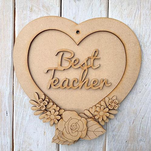 Layered Heart Frame Kit 20cm Best Teacher