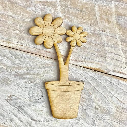 Plywood Flower Pot 10 Pack
