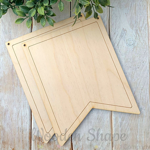 2 Pack Birch Plywood Plaque Bunting I