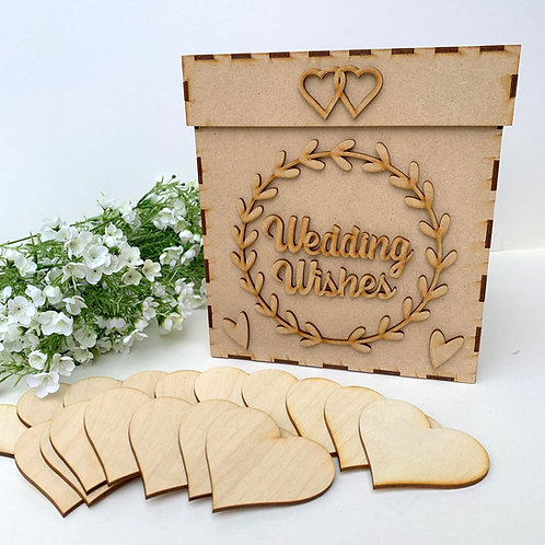 Build Your Own Wedding Wish Box Laurel Ring Wedding Wishes