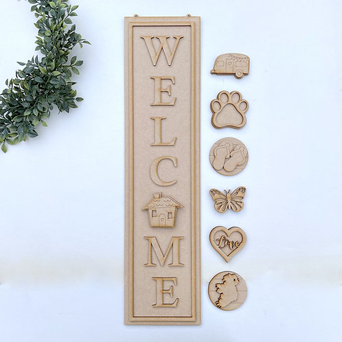 Interchangeable Welcome Porch Sign 60cm